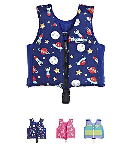 KidsSwim Vest Pool Floats - Swimming Floatation Vest for Toddlers & Kids by Floaties (Blue, Large) (Vest Swim Boys)