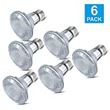 Par20 Halogen Bulbs, 6 Pack 120V 50 Watt Dimmable Halogen Flood Light Bulbs, E26 Medium Base Long Lasting Life High Output Reflector Flood Lights - Warm White
