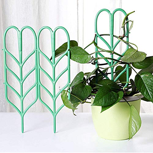 Vines Climbing Ivy (SODIAL 3pcs Mini DIY Leaf Shape Garden Trellis Plants Lattice Pots Supports for Climbing Plants Potted Vines Ivy Cucumbers)