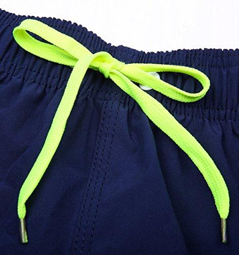 ORANSSI Men's Quick Dry Swim Trunks Bathing Suit Beach Shorts, Navy, Medium, 34-36 Waist by ORANSSI (Image #6)