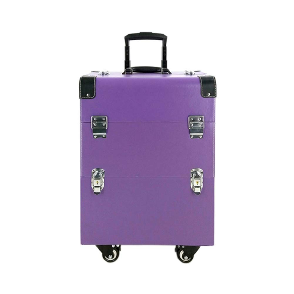 Amazon.com: Professional Rolling Luggage Makeup Travel Case with 4 360° Rotation Wheels Cosmetic Train Organizer Box Trolley Case, Black: Sports & Outdoors
