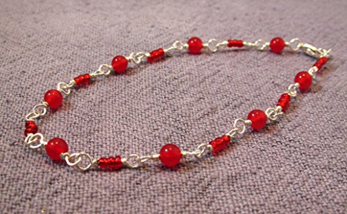 Red Jade 9-inch bracelet
