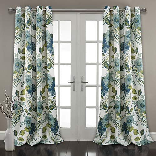 2 Panel Curtain Set - Lush Decor Floral Paisley Window Curtain Panel (Set of 2), 84