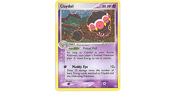 Holo Rare Pokemon EX Hidden Legends Card # 2 Claydol pok-HL-002