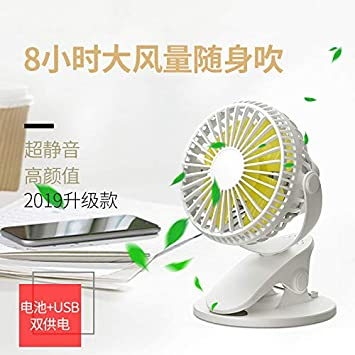 Color : Blue USB Table Desk Personal Fan USB Fan Rechargeable Handheld Dormitory Office Desktop Portable Student Portable Mini Fan Silence for Home Office Table
