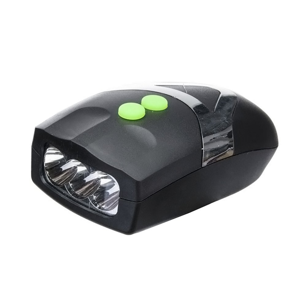 ASOSMOS Ultra Bright 3 LED Bike Cycling Front Head Light Lamp + Electronic Bell Horn Combination Bicycle Accessories