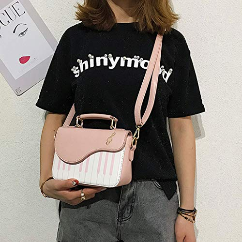 HMHUI Women Messenger Shape Bag Crossbody Piano Satchel Pink Shoulder Ladies Cute Handbag ZZSTOrq