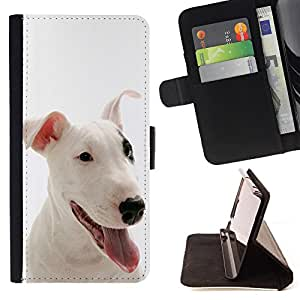 Super Marley Shop - Leather Foilo Wallet Cover Case with Magnetic Closure FOR Apple iPhone 4 4S 4G- Bulldog Bull Dog Pet Puppy