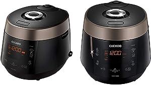 Cuckoo CRP-P1009SB 10 Cup Electric Heating Pressure Cooker & Warmer, 15.70 x 11.50 x 11.70, Black & CRP-P0609S 6 cup Electric Heating Pressure Rice Cooker & Warmer, 10.10 x 11.60 x 14.20, Black