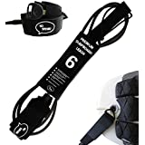 "Ho Stevie! Premium Surf Leash [1 Year Warranty] Maximum Strength, Lightweight, Kink-Free, Types of Surfboards. 7mm Thick (1/4"")"