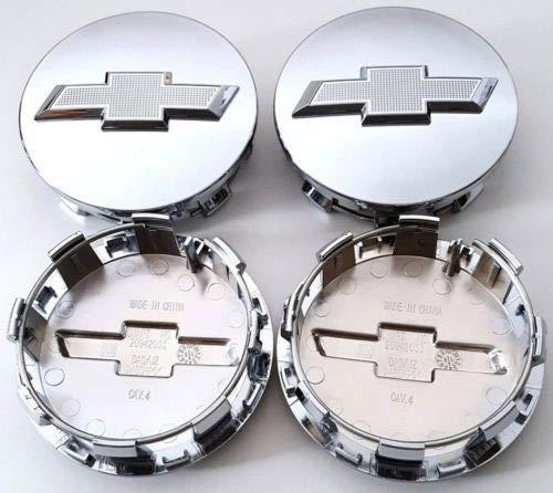 Set of 4 2014-2019 Chevrolet 3.25 Chrome Center Caps 83mm Chevy Hub Caps