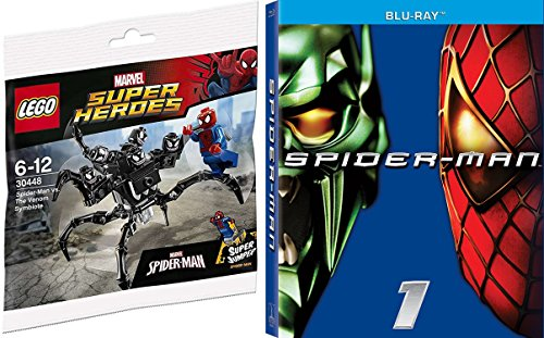 Marvel The Spectacular Spider-Man Movie Blu Ray & Lego Spider-Man Super Jumper The Venom Symbiote Marvel Movie Bundle Pack