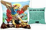 St Michael Archangel Print Picture Prayer Pillow