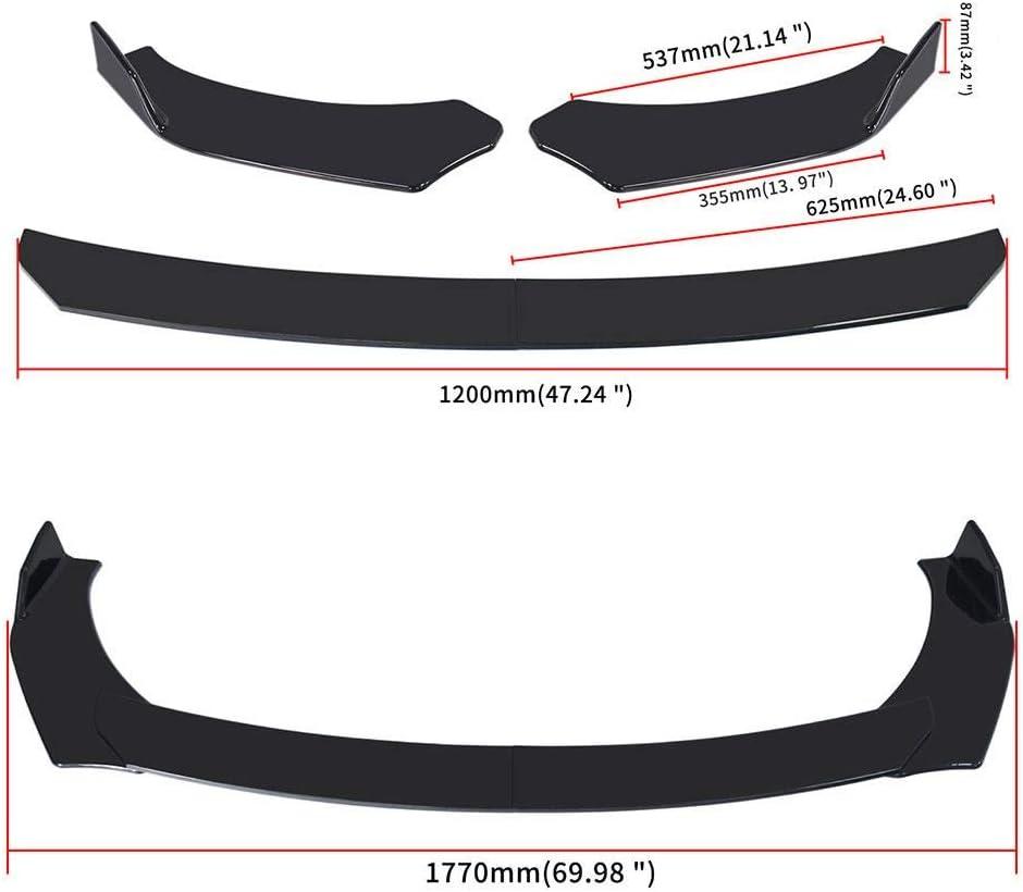 Kit de cuerpo de labios Nuevo separador de labios de parachoques delantero Universal ajustable para coche difusor de aler/ón para BMW para Benz para Audi para VW para Subaru