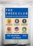 160 Micron | Premium Nylon Tea Filter Press Screen Bags | 2'' x 9'' | 25 Pack | Zero Blowout Guarantee | All Micron & Sizes Available