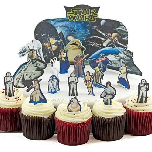 Cakeshop VORGESCHNITTENE UND ESSBARE Star Wars Szene Kuchen topper (Tortenaufleger)