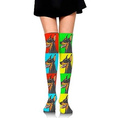 SDGSS Tube Knee High Socks Long 19.7inch/50cm Doberman ...