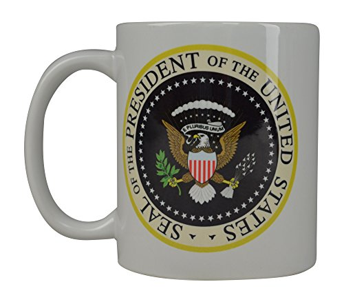 Best Coffee Mug The President On The United States Seal Novelty Cup Great Gift Idea Washington DC President ()