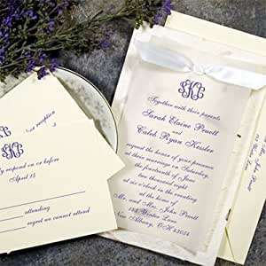 Amazoncom gartner 50 count hand made paper wedding for Wedding invitation kits 50 count