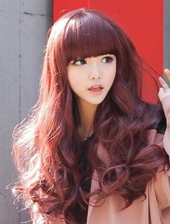 Hot New Women Long Wavy Hair For Natural Black Light Brown Dark Brown Wine Red