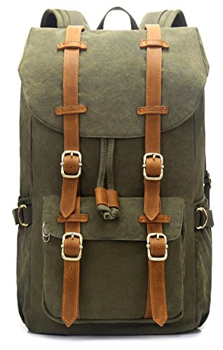 EverVanz Outdoor Canvas Leather Backpack
