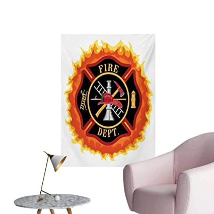 Amazon Com Anzhutwelve Fireman Home Decor Wall Fire Department Icon