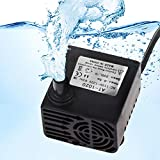 Submersible 3W Aquarium Water Pump - Hydrodynamic Design - Adjustable Water Flow - Perfect for Both Freshwater and Saltwater Tanks - Max Flow Rate of 53 GPH (200L/H)