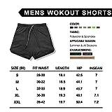 Leidowei Men's 2 in 1 Workout Running Shorts