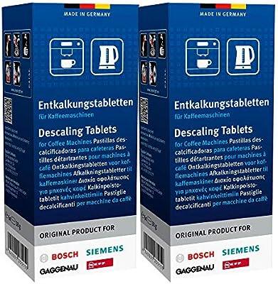 BSH Bosch/Siemens 00311864 pastillas descalcificadoras, 2 x 6 ...