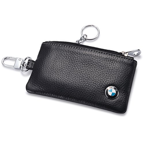 emote Cover Fob with 1 Metal Keychain - Genuine Leather ()