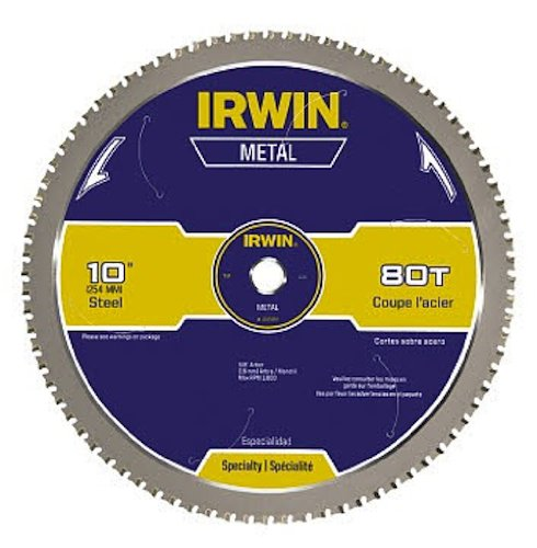 IRWIN 80T Metal Cutting Ferrous Steel Circular Saw Blade, 14