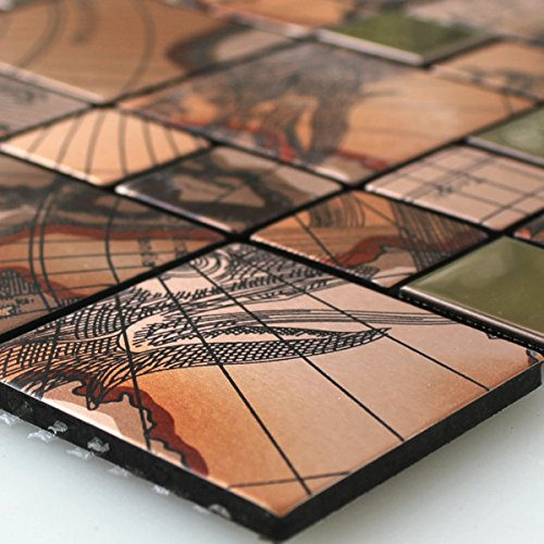 Edelstahl Metall Mosaik Fliesen Columbus Kupfer Alu Aluminium - Mosaik fliesen braun gold