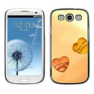 Slim Design Hard PC/Aluminum Shell Case Cover for Samsung Galaxy S3 I9300 Love Amber Love / JUSTGO PHONE PROTECTOR