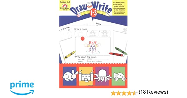 Workbook first grade worksheets pdf : Amazon.com: Draw...Then Write, Grades 1-3 (0023472007315): Evan ...