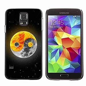 Planetar® ( Yin yang Moon Sun ) Fundas Cover Cubre Hard Case Cover Samsung Galaxy S5 V SM-G900