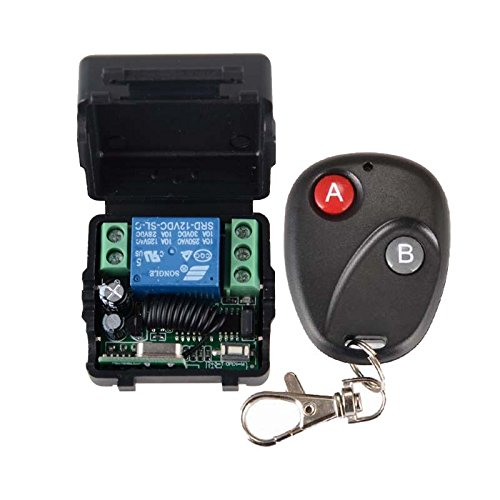 Lejin DC 12v 10A 1channel Wireless RF remote control switch transmitter + receiver for access / door control system radio switch radio remote control radio remote control system by Lejin