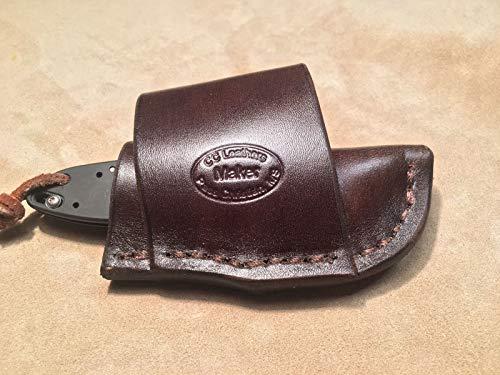 (Custom Leather Crossdraw Sheath for Kershaw Ken Onion Leek Knife)