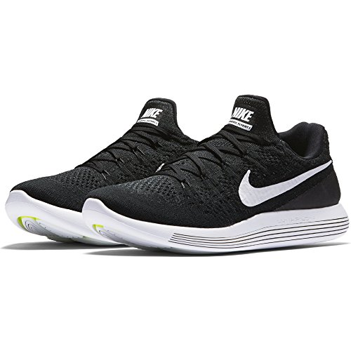 NIKE Men Lunarepic Low Flyknit 2 Running Shoe, Size 15, Black/Anthracite/White