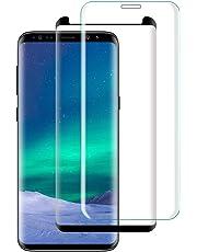 Etmury Galaxy S8 Plus Panzerglas Schutzfolie[2 Stück] Blasenfreie Anti-Kratz Panzerglasfolie Hartglas Gehärtetem Glas Displayschutzfolie für Galaxy Samsung Galaxy S8 Plus