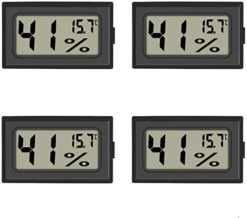 Thlevel 3-Pack Hygrometer Thermometer Digital LCD Monitor Humidity Meter Gauge for Humidifiers Dehumidifiers Greenhouse Basement Babyroom