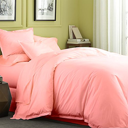 Flyingcart Soft 520-Thread-Count 100% Egyptian Cotton Cal King 6 Piece Sheet Set With 21'' Deep Fitted Sheet Pocket, Pink