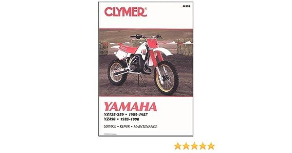 Clymer 85-87 Yamaha YZ250 Service Manual Software Diagnostic ...