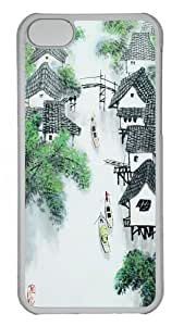 iPhone 5C Cases, iPhone 5C Case - Chinese Painting Custom PC Case Cover For iPhone 5C - Tranparent by patoner