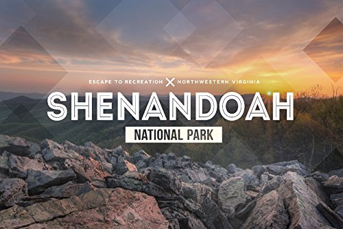 Shenandoah National Park, Virginia - Rubber Stamp - Typography Design (24x36 SIGNED Print Master Giclee Print w/Certificate of Authenticity - Wall Decor Travel Poster)