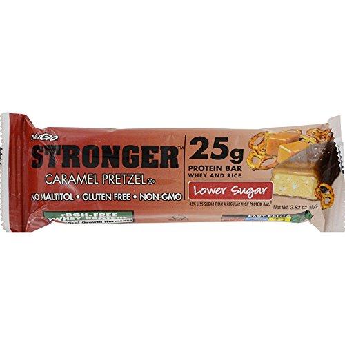 NuGO Nutrition Bar, Stronger Caramel Pretzel – (Case of 12 – 2.82 oz) For Sale