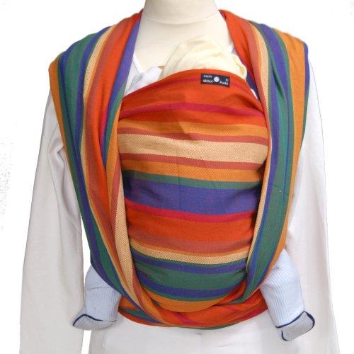 DIDYMOS Woven Wrap Baby Carrier Stripes KATJA (Organic Cotton), Size 7