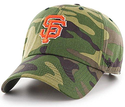 '47 Authentic San Francisco Giants MLB Woodland Camo Clean Up Strap back Cap (Wash Mlb Cotton Hat)