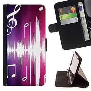 Momo Phone Case / Flip Funda de Cuero Case Cover - Música Rosa - Apple Iphone 5 / 5S