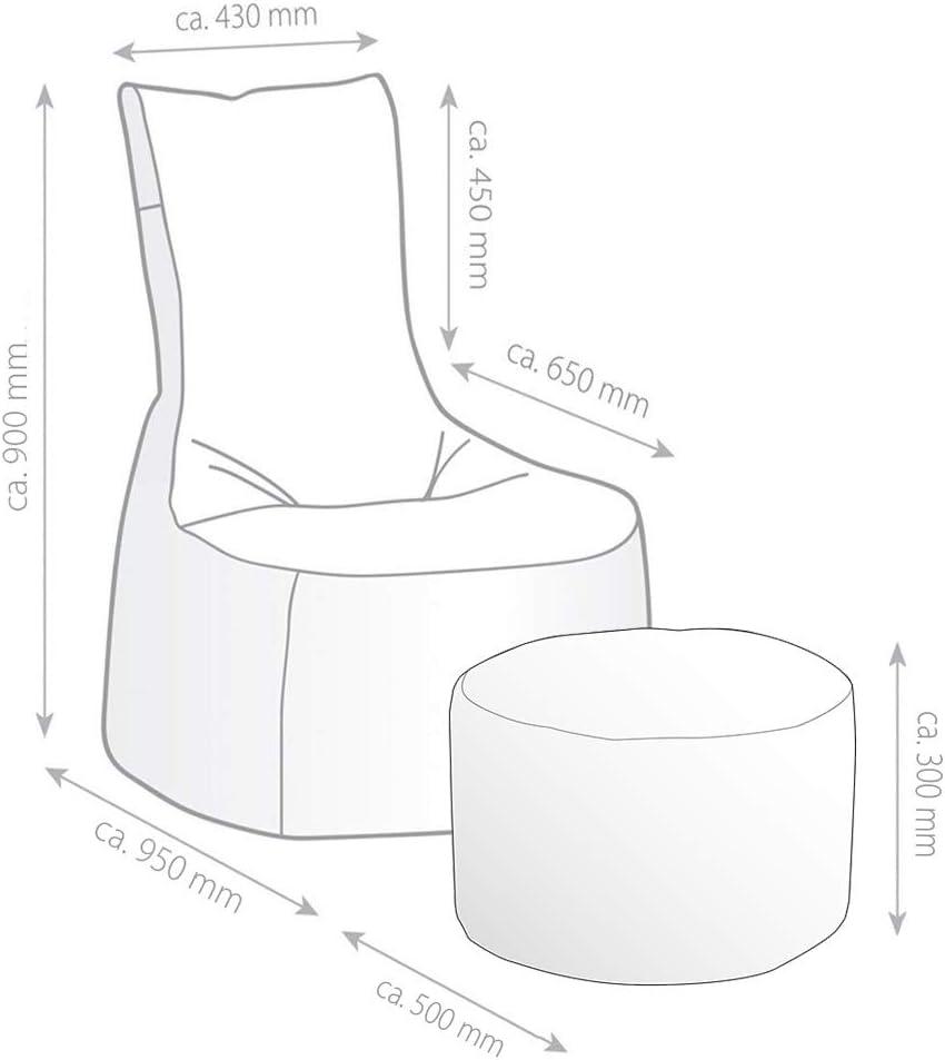 Dimensioni: 50 x 50 x 30 cm Pouf da Gioco in Ecopelle Gamewarez Arctic Hurricane 2.0 95 x 65 x 90 cm