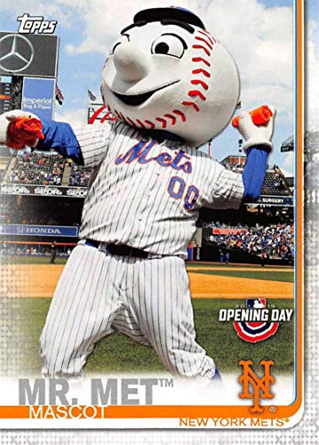 2019 Topps Opening Day Mascots #M-20 Mr. Met Mets MLB Baseball Card NM-MT